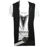 Cheaper Podom Men S Casual Slim Fit Hoodie Sleeveless Vest Shirt Black