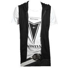 Compare Price Podom Men S Casual Slim Fit Hoodie Sleeveless Vest Shirt Black Podom On China