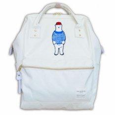 Polar Bear Backpack Original Japan Best Seller Popular Large Capacity Unisex White X Blue Large Size Lower Price
