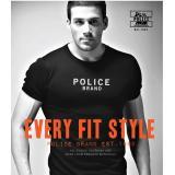 Discount Policebrand T Shirt F461 Black Short Sleeve