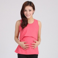 1498bed2eba6c Pregnant Maternity Clothes Nursing Tops Breastfeeding Vest T-Shirt W+R -  intl