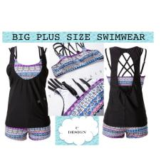 Premium Big Plus Size Swimwear Swimsuit Bps C Design Free Shipping