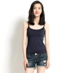 Promo Premium Bra Top Padded Camisole Tank Top T Shirt Bra Tank Top Bra Yoga Top A Series Navy Color