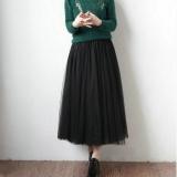 Sale High Waist Sheath Type Tutu Skirt Mesh Skirt Black Black Singapore