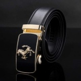 Top 10 Promotion New Style Hot Brand Design Automatic Buckle Belt Men Genuine Leather Belt Man Luxury Men Belts Alloy Buckle Best As Gift Intl