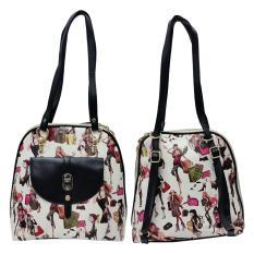 Buy Pu Anello Leather Cartoon Girls Backpack Shoulder Bag 2 Ways Black Oem