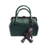 Low Price Pu Leather Satchel Women Messenger Bag Green