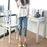 Best Pudding Korea Korean Fashion Haren Baggy Jeans Light Blue Intl