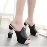 Cheapest Pudding High Heeled Sandals With Thick Soles Slipper Black Intl Online