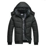 Pudding Men Winter Coat Windproof Jackets Slim Clothes Solid Thickening Down Feathers Coats Black Intl On China