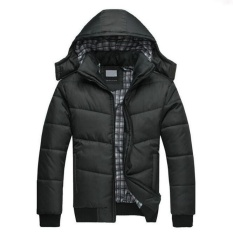 Buying Pudding Men Winter Coat Windproof Jackets Slim Clothes Solid Thickening Down Feathers Coats Black Intl