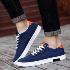 Who Sells The Cheapest Pudding Korea Korean Fashion Korea Korean Fashion Men S Canvas Lace White Shoes Student Blue Online