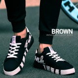Best Offer Pudding Korea Korean Fashion Men S Canvas Shoes Low Help Fashion Cloth Shoes Sneakers Breathable Leisure Students Black