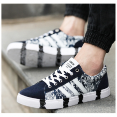 Shop For Pudding Korea Korean Fashion Men S Casual Canvas Shoes Camouflage Blue