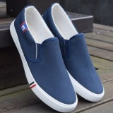 Coupon Pudding Korea Korean Fashion Men S Casual Canvas Shoes Student Blue