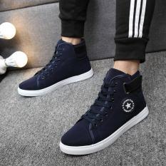 Buy Pudding Korea Korean Fashion Men S Casual Canvas Sports Shoes Blue On China