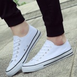 Pudding Korea Korean Fashion Men S Classic Canvas Shoes Students White Free Shipping