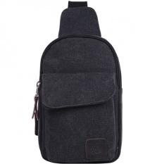 Discounted Pudding Men S Shoulder Messenger Bag Washed Cloth Black