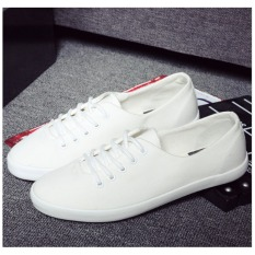 Pudding Korea Korean Fashion Women Pure Color Leisure Small White Canvas Shoes Intl Reviews