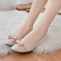 Sale Pudding Korea Korean Fashion Women S Flat Casual Shoes Sweet Bow Beige Online China