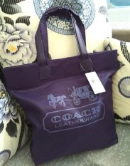 Sale Pwp Purchase With Purchase Coach Nylon Tote Bag Shoulder Bag Purple Oem On Singapore