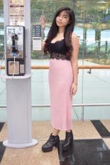 Sale Pyzis Co Prezia Ribbed Maxi Skirt Singapore Cheap