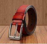 Shop For Q Shop Genuine Leather Cattle Belt Needle Buckle Belt For Men Size 120Cm 47 Inch Red Intl