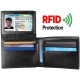 Buy Q Shop Leather Men Wallet Rfid Blocking Genuine Leather Wallet For Men Minimalist Front Pocket Bifold Slim Mens Wallet With Flip Id License Window Black Intl Cheap China