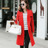 How To Buy Women S Korean Style Slim Fit Woolen Long Coat Red Red