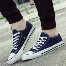 Top Rated Qizhef Ms Canvas Vulcanized Shoes Blue Intl