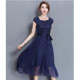 Compare Qq Large Size Dress Midi Evening Dress Blue Intl