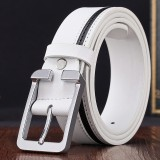 Buy 【Quick Delivery Men And Women General】 Men S High Quality Belt White Intl China