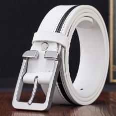 Compare Prices For 【Quick Delivery Men And Women General】 Men S High Quality Belt White Intl