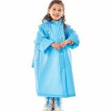 Where To Shop For Raincoat For Kids Girls Boys Rainproof Solid Rain Coat Waterproof Poncho Children Rainwear(Blue) Intl