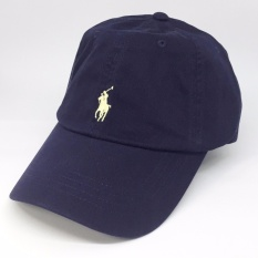 Compare Prices For Ralph Lauren Baseball Cap Navy Blue With Yellow Pony