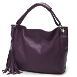 Realer Pu Leather Handbags Women Shoulder Bags Purple Price