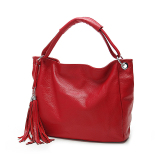 Best Realer Pu Leather Handbags Women Shoulder Bags Red