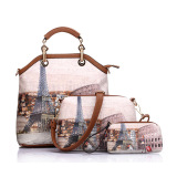Buy Realer Women S Pu Leather 3 Sets Top Handle Bag Color Rolling Suitcases Intl On China