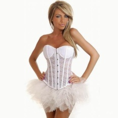 Recent Relaxlama Women S Breathable Translucent Wedding Dress Thin Corset Bustiers White 3052 1 Intl