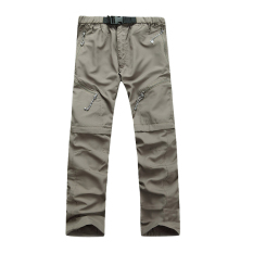 Great Deal Removable Men Quick Drying Pants Outdoor Casual Breathable Trousers(Khaki)