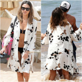 Price Sun Protection Clothing Female Loose Print Cotton White B*k*n* Oem Online