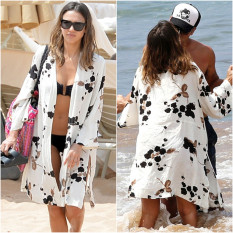Compare Prices For Sun Protection Clothing Female Loose Print Cotton White B*k*n*