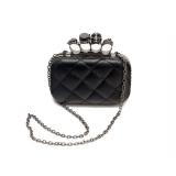 Coupon Retro Clutch Bag Evening Bag Skull Ring Chain Bag Shoulder Bag Black