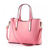 Retro Handbags Large Shoulder Bag Women Tote Bags Pink Intl Coupon