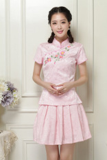 Sale Vintage Improved Embroidered Students Pao Qun Tang Costume Dress Pink Color 2068 Pink Color 2068 Oem