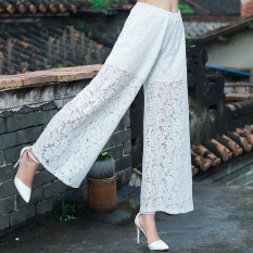 Discount Retro Jacquard Origional New Style Flare Wide Leg White Other On China