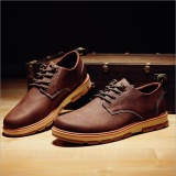 Best Price Retro Leather Shoes Brown Intl