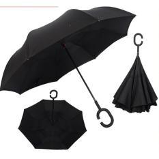 Reverse Umbrella Inverted Double Layer C Handle Umbrella Black On Line