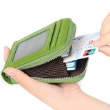 Sale Rfid Blocking Genuine Leather Credit Card Case Holder Security Travel Wallet Front Pocket Wallets For Men And Women Green Intl Online On China