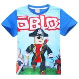 Sale Roblox Boys 105 155Cm Body Height Cotton T Shirts Color Blue Intl China Cheap